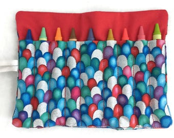 Crayon Roll Up - Crayon Holder - Crayon Wallet - Easter Basket Filler - Crayon Wrap