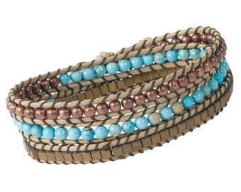 DIY Wrap Bracelet Kit - Turquoise (WRAP065)