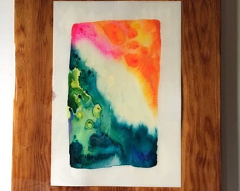 Chuns Reef ++ Original Abstract Watercolor 11x15in