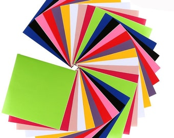 caydo 12 x 12 adhesive vinyl sheets assorted colors for cricut silhouette cameo and craft cutters 30 sheets - Cricut Vinyl Colors
