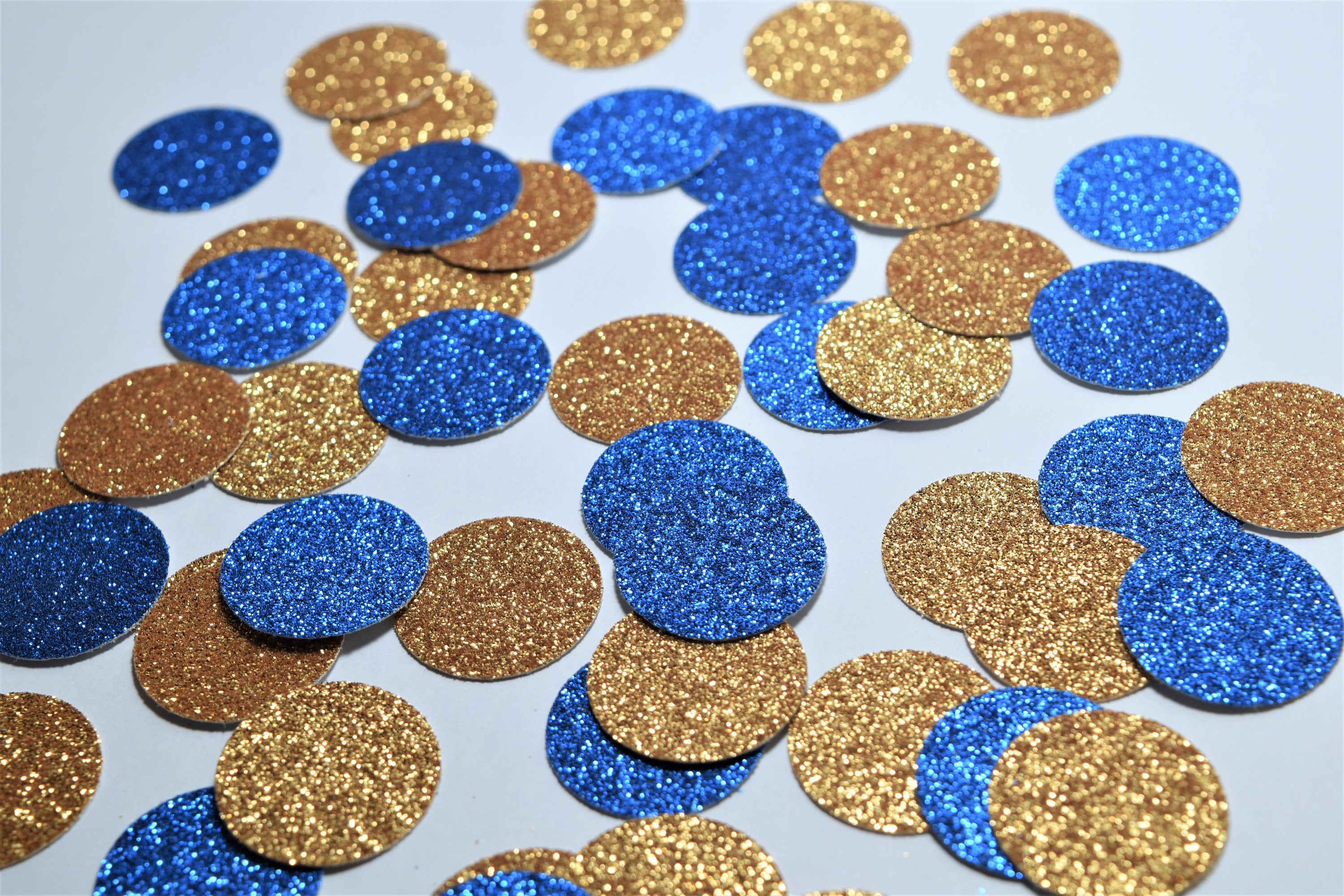Royal Blue and Gold Confetti Engagement Party Decorations Blue