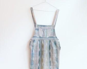 Vintage hippie boho dungarees dress S