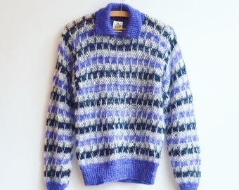 Vintage hand knitted mohair wool junper knit s