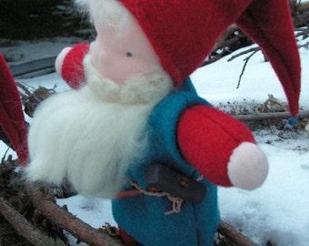 Nisse, Waldorf doll, tomten, leprechaun, handmade, small doll, gnome doll, manikin doll, fabric cloth doll, rag elf doll, baby boy doll
