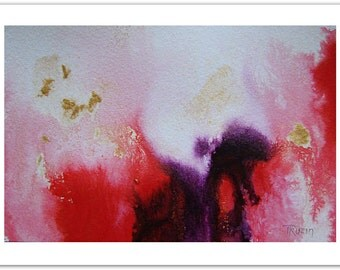 Red Purple Original Abstract Painting, Small Art, Original Artwork, Acrylic Painting, Red Painting Unique Gift for Mom, Christmas Gift