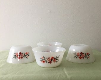 1950's Primose Fire King Custard Cups
