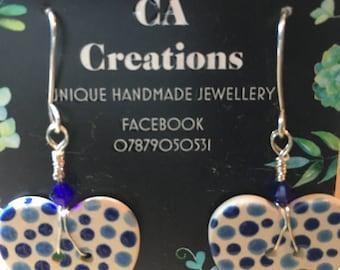 Ceramic Button Earrings