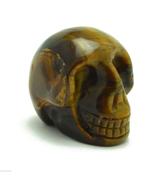 carved gemstone skull tiger s eye collectible ancient