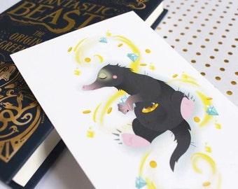 Map postcard Niffleur of fantastic animals