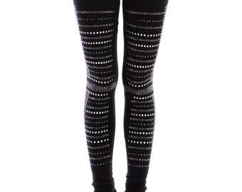 Stud Black Leggings