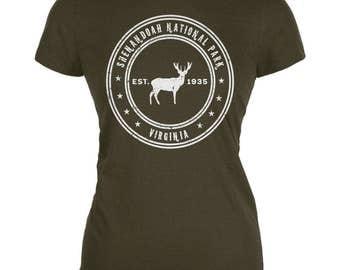 Shenandoah National Park Army Juniors Soft T-Shirt
