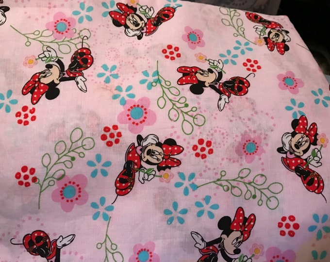 Minnie Mouse Satin Lined Bonnet (Add Size to Notes)