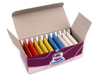 10 x, tailor's Chalk approx. 33 x 47 mm assorted colours
