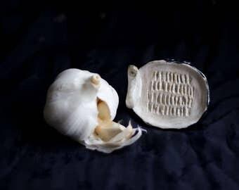 Ceramic garlic grater
