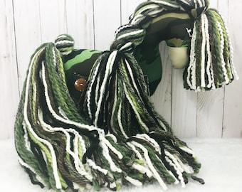 Camouflage Cotton Pony - horse stuffed animal; plush toy; one of a kind; stuffed horse; stuffed pony; stuffed animal horse; camo print