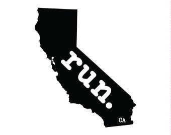 Run CA State Outline Magnet