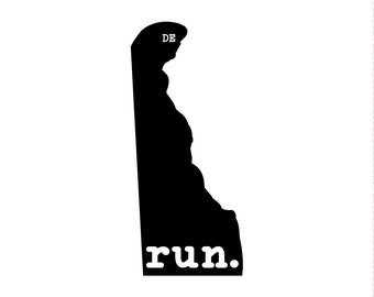 Run DE State Outline Magnet