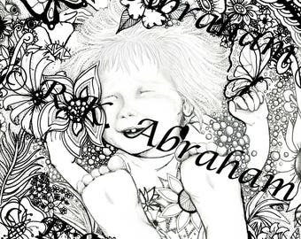 The DeafBlind Girl 8x10 Coloring page Cardstock