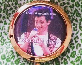 Ferris Bueller 'Twist and Shout' compact mirror