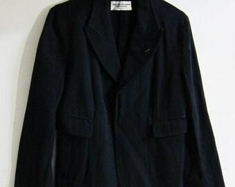 Comme Des Garcons robe de chambre Women jacket Japan Navy