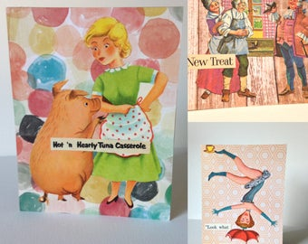 SALE, greeting cards, card set, mix and match, pick 3, gift, snail mail