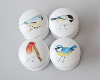 Bird Drawer Knobs, Bird Drawer Pulls, Drawer Pulls,  Bird Dresser Pulls, knobs, Handles, Robin.