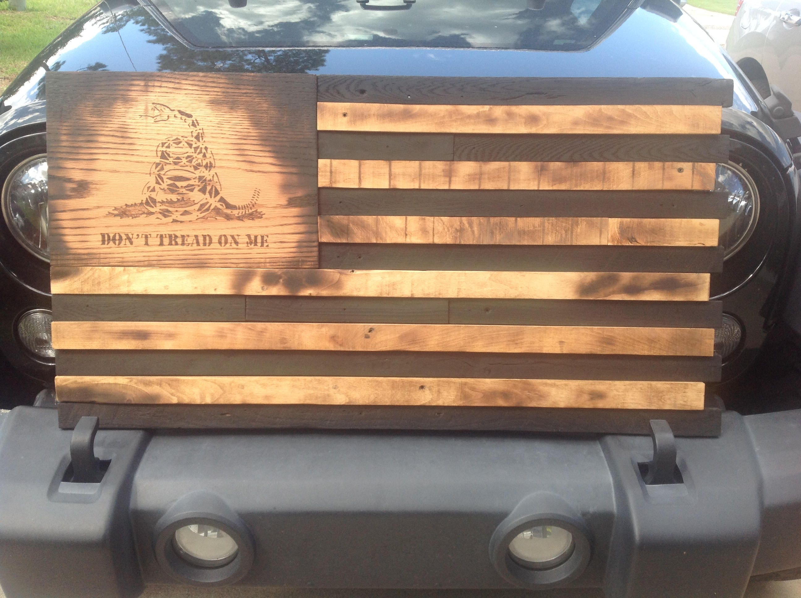 Gadsden Don T Tread On Me Wooden American Flag Reclaimed
