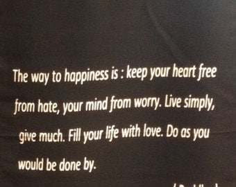 Wall Hanging with Buddha Quote.