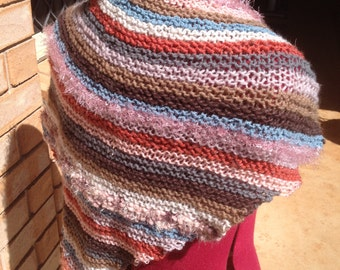 Hand Knitted Prayer Shawl