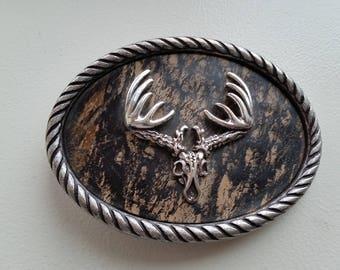 Nocona Deer Skull Belt Buckle