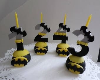 Batman inspired candle numbers