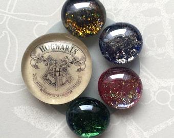 Harry Potter Hogwarts Houses 4 or 5 Magnet Set
