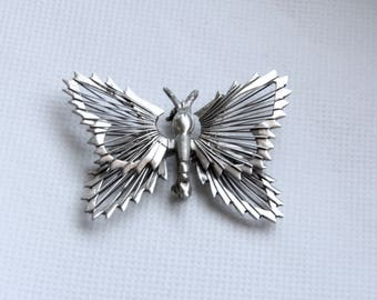 Mexico butterfly 925 sterling silver brooch