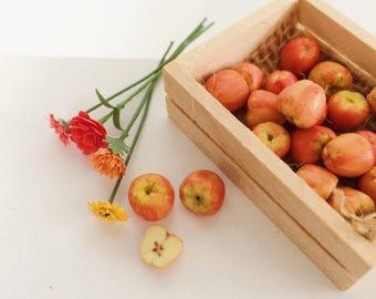 Miniature Fruit - Mini Apples Pears Oranges Lemons - Fruit for Dollshouse - Miniature Food - Dollshouse Food - 1:12 scale food