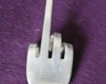 hand made cutlery fok fun keyring finger hand single finger