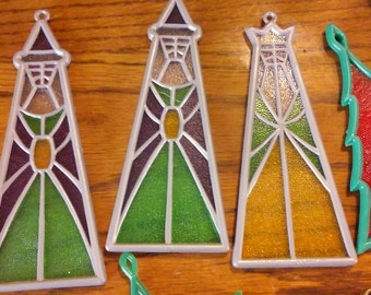 14 Piece Stained Glass Ornaments