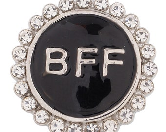Item# 8559--- 20mm BFF Snap w/Black Background (FREE Shipping Coupon Code in Description)