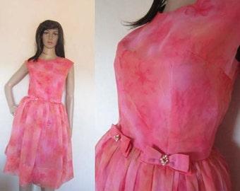 Original 50ties Prom Gown dress rockabilly XS / S