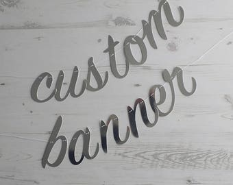 Personalised Script Letter Garland/Bunting | Any Word, Name or Phrase Banner