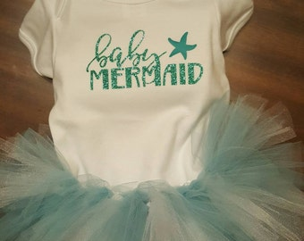 Baby mermaid outfit/baby onsie/custom/perfect gift for baby shower
