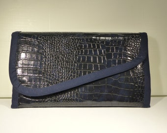 Midnight Blue faux leather wallet