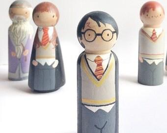 "2 3/8"" Harry Potter Peg Doll set"