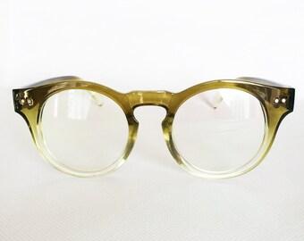 High Quality Mens Womens Unisex Wayfarer Glasses Frames Trendy Hipster Nerd Hippie Indie Vintage Oliver Peoples Style in Green Gradient