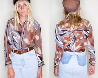 Vintage Emilio Pucci button down blouse #10