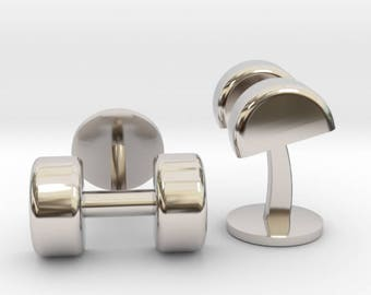 Weightlifting Cufflinks | Wedding Fitness & Dumbbell Cuff links | Available as Sets