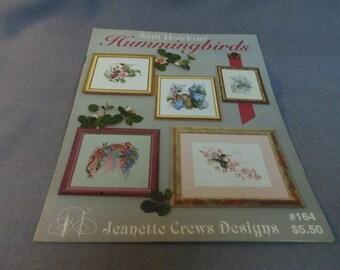 Counted Cross Stitch Patterns, Hummingbirds, Sam Hawkins, Jeanette Crews Designs 164