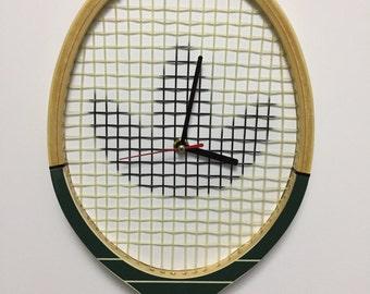 Clock vintage adidas tennis racket