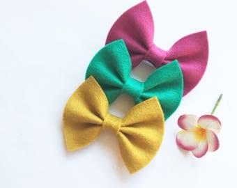 Sqaure bow headband pink bow bow hair accessories mustard green clip kids