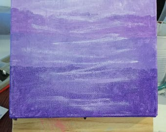 Ombre Purple Painting