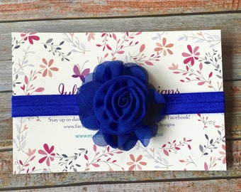 Baby Headband/Royal Blue Headband/Newborn Headband/Baby Girl Headband/Royal Blue/Baby Headbands/Headband/Infant Headband/Blue Baby Headband